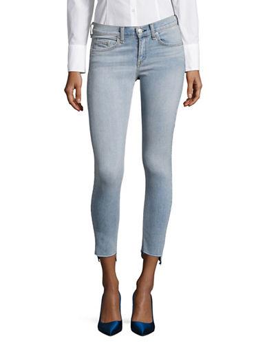 Rag & Bone/Jean Capri Skinny Step-Hem Jeans-BLUE-32