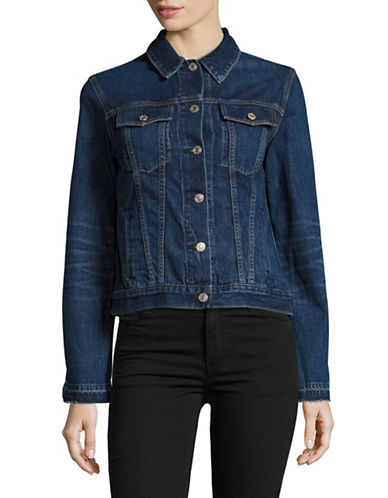 Rag & Bone/Jean Cuffless Denim Jacket-BLUE-Large