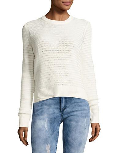 Rag & Bone/Jean Elsie Open-Back Sweater-WHITE-Small