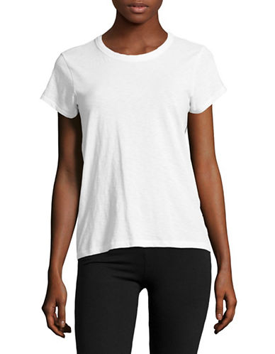 Rag & Bone/Jean V-Neck Tee-WHITE-Large
