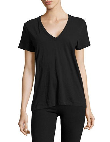 Rag & Bone/Jean V-Neck Tee-BLACK-Large