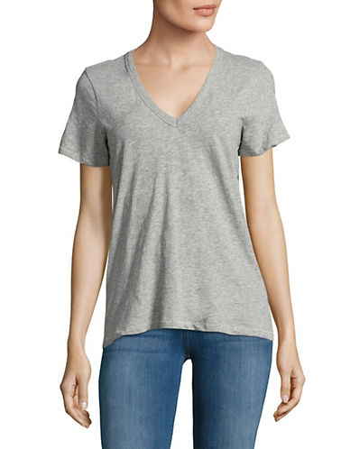 Rag & Bone/Jean V-Neck Tee-GREY-Medium