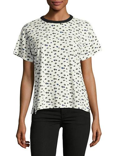 Rag & Bone/Jean Vintage Floral-Printed T-Shirt-WHITE-Small