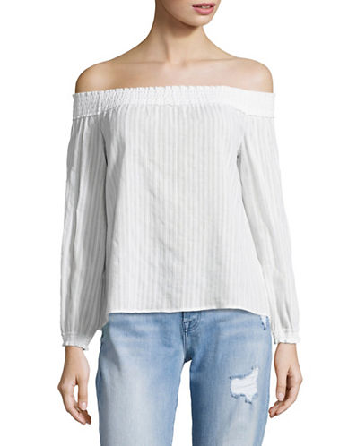 Rag & Bone/Jean Drew Off-Shoulder Top-WHITE-Medium 89221295_WHITE_Medium