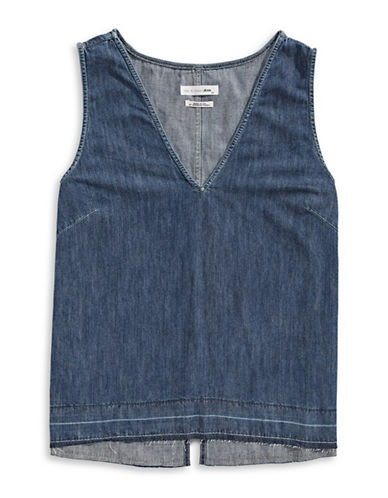 Rag & Bone/Jean Drape Denim Tank-BLUE-Medium 89221299_BLUE_Medium