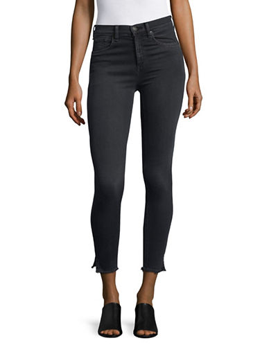 Rag & Bone/Jean Skinny Stretch Denim Capris-BLACK-32