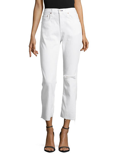 Rag & Bone/Jean Marilyn Crop Flare Jeans-WHITE-30