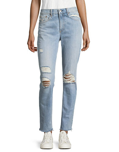 Rag & Bone/Jean Marilyn Distressed Boyfriend Jeans-BLUE-25
