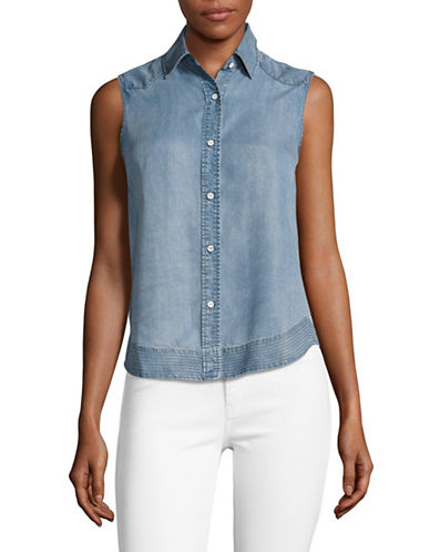 Rag & Bone/Jean Mojave Indigo Chambray Tank-BLUE-Small