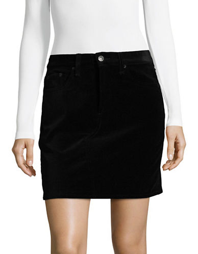 Rag & Bone/Jean Dive Velvet Mini Skirt-BLACK-25