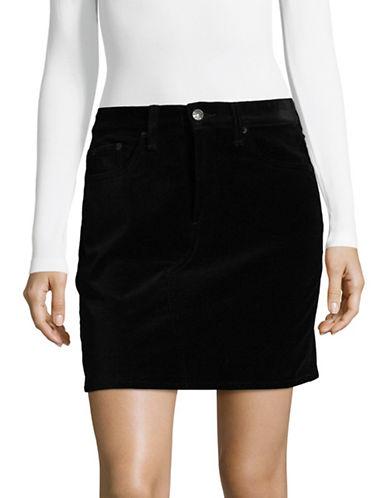 Rag & Bone/Jean Dive Velvet Mini Skirt-BLACK-28