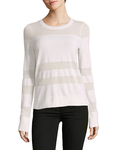 Rag & Bone/Jean Sheer Yoke Sweater-WHITE-Large