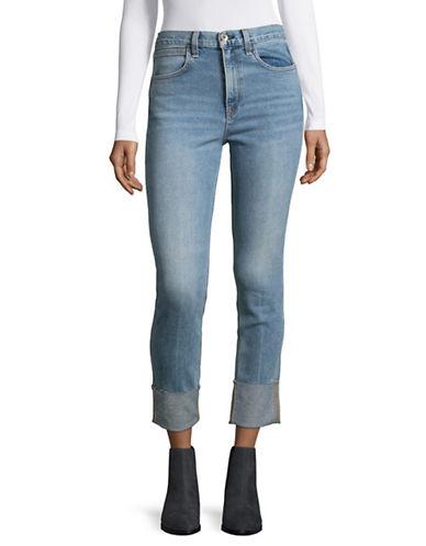Rag & Bone/Jean Lou Cuffed Skinny Jeans-BLUE-27