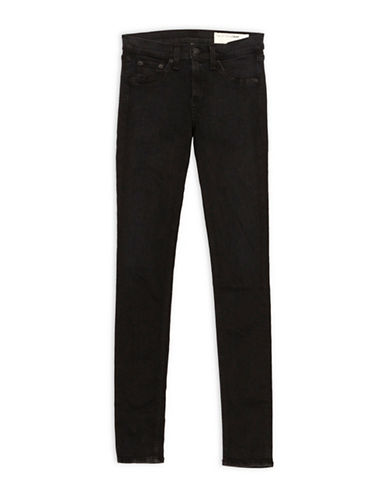 Rag & Bone/Jean High Rise Skinny Jeans-BLACK-29