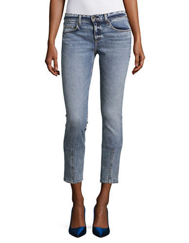 Rag & Bone/Jean Faded Crop Jeans-ACID BLUE-31