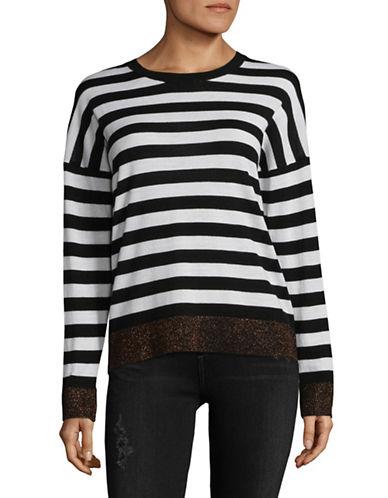 Rag & Bone/Jean June Stripe Wool-Blend Sweatshirt-BLACK-Small
