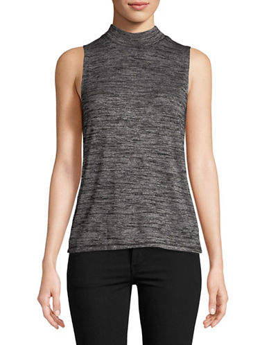 Rag & Bone/Jean Sleeveless Mock Neck Top-GREY-Small