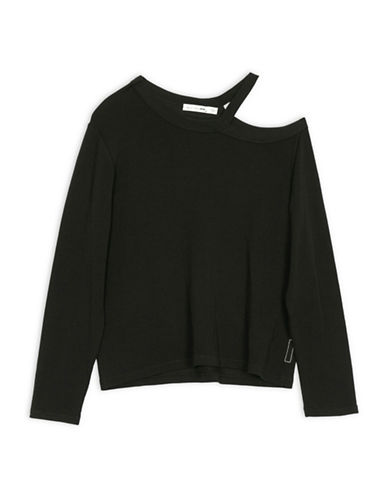 Rag & Bone/Jean Sky Long Sleeve Top-BLACK-Small