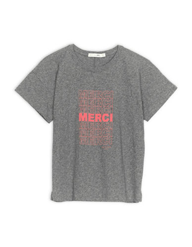Rag & Bone/Jean Vintage Merci Cotton Tee-GREY-Medium