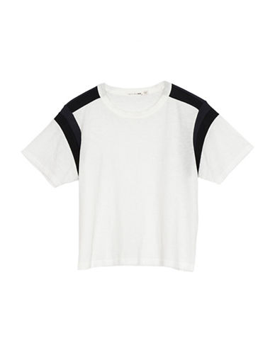 Rag & Bone/Jean Paneled Short-Sleeve Cotton Tee-WHITE-Small