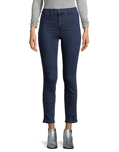 Rag & Bone/Jean High-Rise Slim Cigarette-Fit Jeans-BLUE-26
