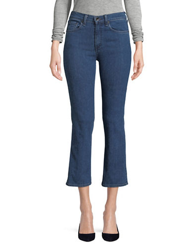 Rag & Bone/Jean Slim-Fit High-Rise Cropped Jeans-BLUE-26