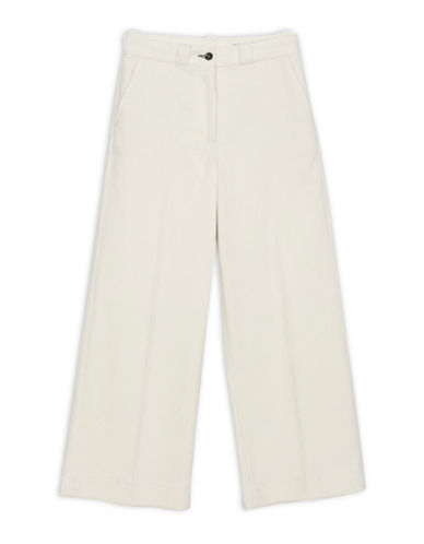 Rag & Bone/Jean Lari Wide Leg Cotton Trouser-WHITE-27