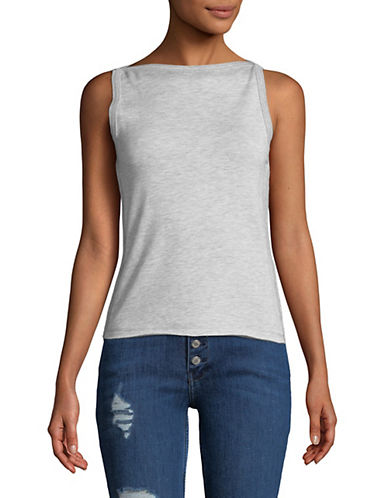 Rag & Bone/Jean Slim-Fit Boat Neck Tank Top-GREY-Large 89995402_GREY_Large