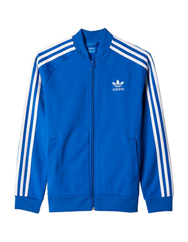 Adidas Superstar Track Jacket for Boys 8-20-BLUE-Small 89211449_BLUE_Small