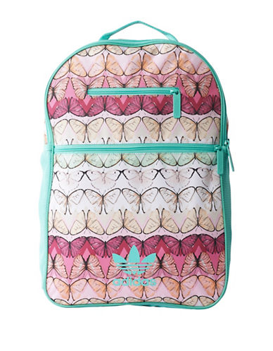 Adidas Butterfly Printed Essential Backpack-GREEN MULTI-One Size