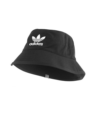Adidas Logo Bucket Hat-BLACK/WHITE-Small/Medium