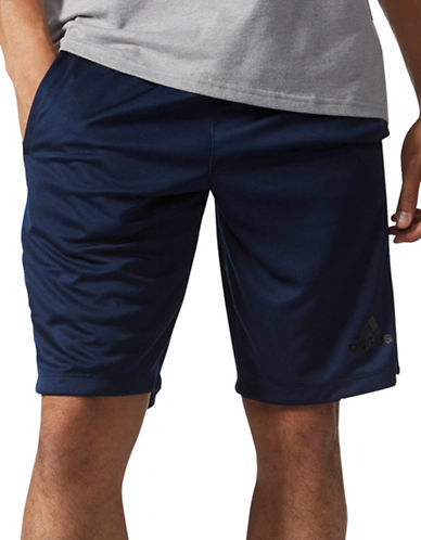 Adidas D2M 3-Stripe Shorts-NAVY-Large