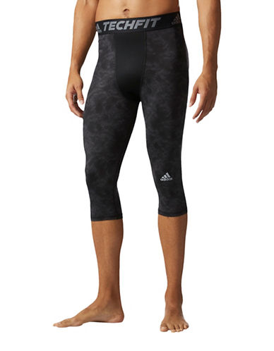 Adidas Techfit Snake Strike Three-Quarter Tights-BLACK-Medium 89036192_BLACK_Medium