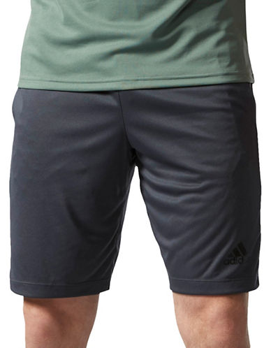 Adidas Design 2 Move Shorts with 3-Stripes-GREY-Medium