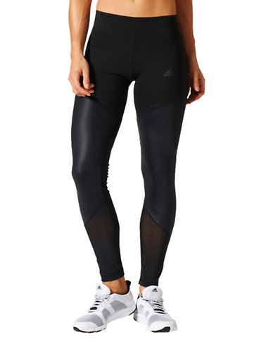 Adidas Wow Drop Mesh Panel Moisture Wick Tights-BLACK-Medium 88886800_BLACK_Medium