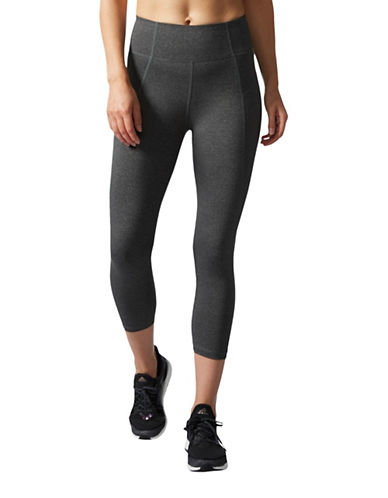 Adidas Performer High-Rise Three-Quarter Tights-GREY-Large 89178243_GREY_Large