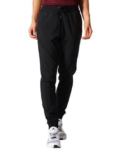 Adidas Performance Woven Zip Track Pants-BLACK-Small 89170847_BLACK_Small