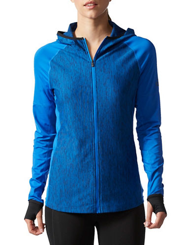 Adidas Long Sleeve Fleece Jacket-BLUE-Medium 88886780_BLUE_Medium