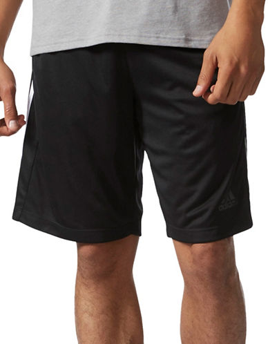Adidas D2M 3-Stripes Shorts-BLACK-Medium