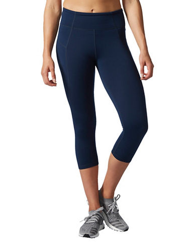 Adidas HR 34 Compression Fit Three-Quarter Tights-BLUE-Medium 88886790_BLUE_Medium