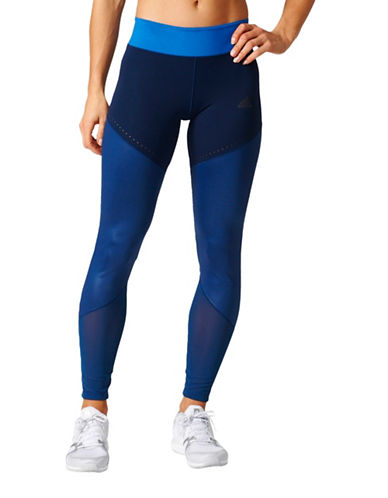 Adidas Paneled Training Tights-BLUE-X-Large