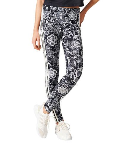 Adidas Florido 3-Stripes Leggings-MULTI-Small 89080363_MULTI_Small