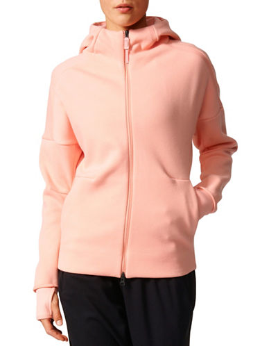 Adidas ZNE Long Sleeve Zip Up Hoodie-PINK-X-Large 89080311_PINK_X-Large