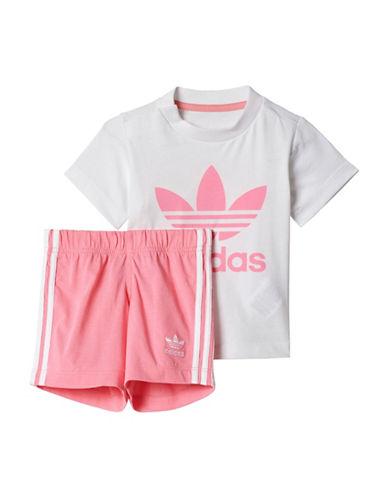 Adidas Two-Piece Originals Trefoil Set-WHITE-6 Months