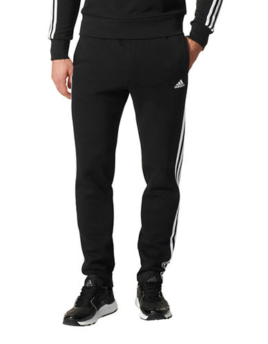 Adidas Essentials 3-Stripes Fleece Pants-BLACK-X-Large 89668313_BLACK_X-Large