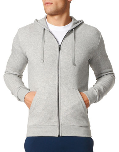 Adidas Essentials Base Full-Zip Fleece Hoodie-GREY-X-Large