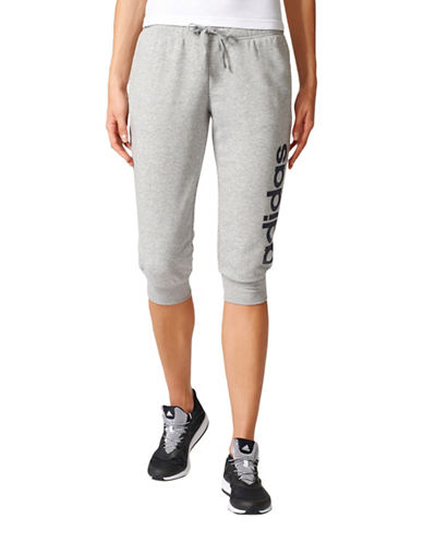 Adidas Essentials Three-Quarter Pants-GREY-Medium 89178135_GREY_Medium