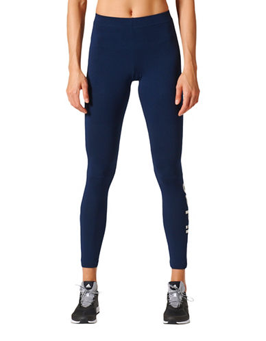 Adidas Essentials Linear Tights-NAVY-Medium