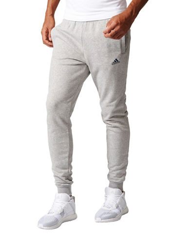 Adidas Essentials Slim French Terry Pants-GREY-Large