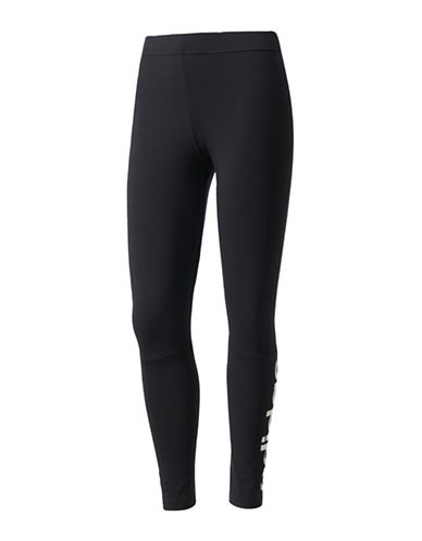 Adidas Essentials Linear Tights-BLACK-Small